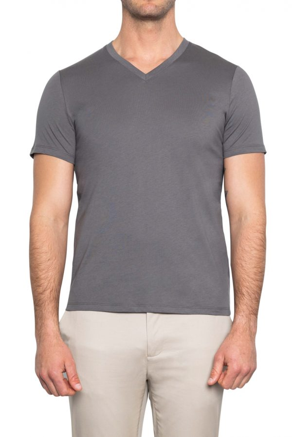 Perry V Neck Tee GREY