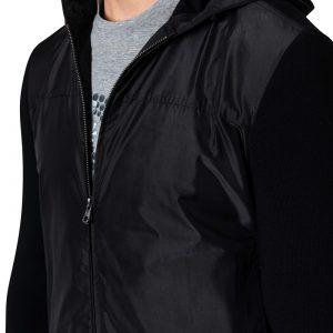 Kirk Nylon Front Jacket Black