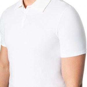 Perry Snap Neck Polo WHITE