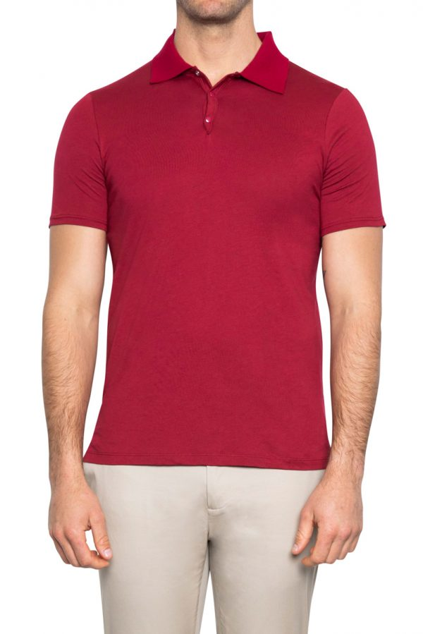 Perry Snap Neck Polo RUBY