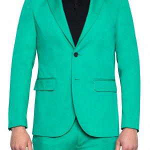 Leo Cotton Blazer Emerald