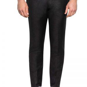 Roscoe Slim Linen Pant Black
