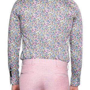 Donny Bouquet Print Shirt PINK/GREEN