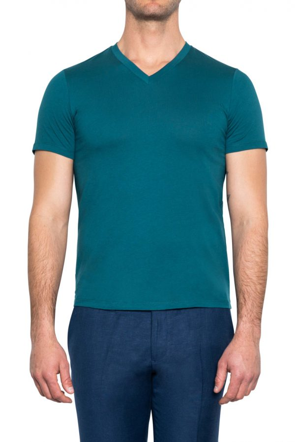 Perry V Neck Tee TEAL