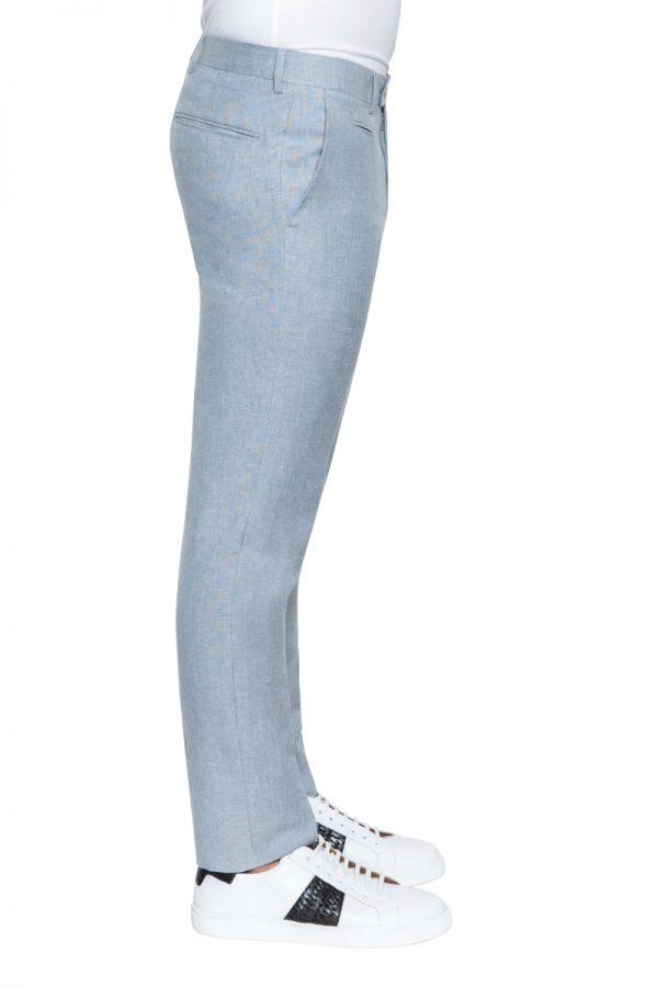 Roscoe Slim Linen Pant GREY