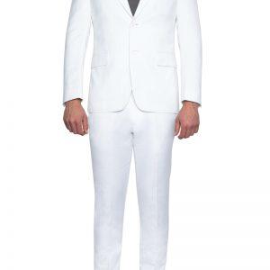 Roscoe Peak Lapel Linen Blazer WHITE