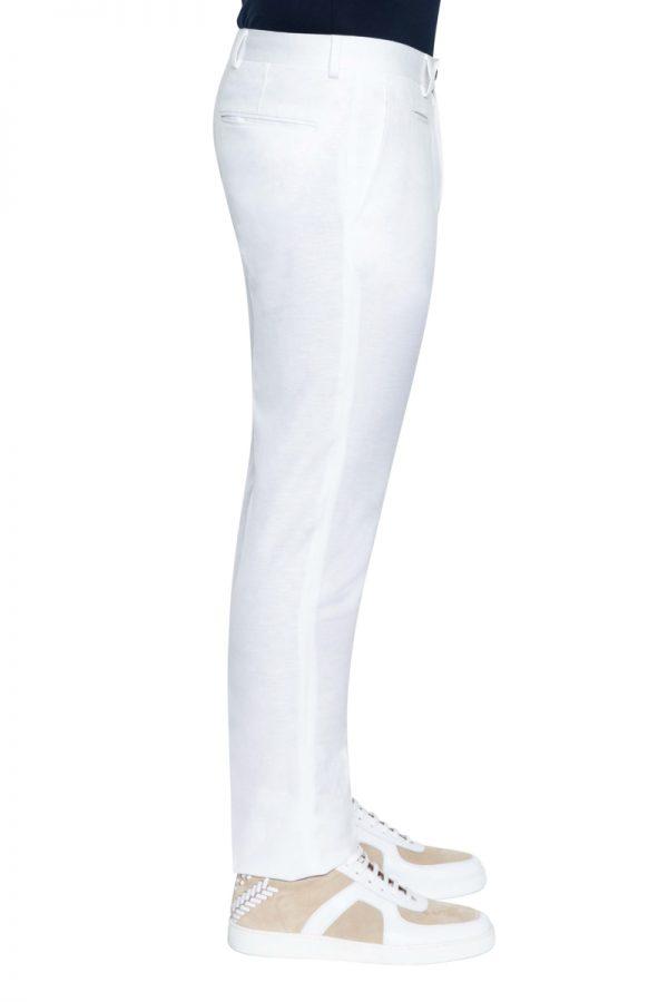 Roscoe Slim Linen Pant WHITE