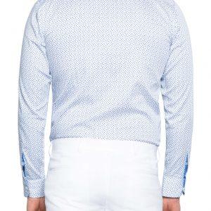 Andy Printed Shirt SKY/WHITE