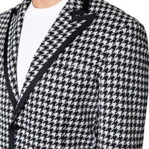 Benny Grosgrain Blazer Black/White