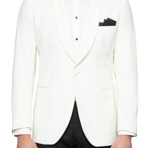 Augustus Tuxedo Jacket Ivory