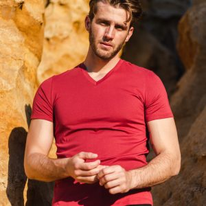 Perry V Neck Tee RUBY